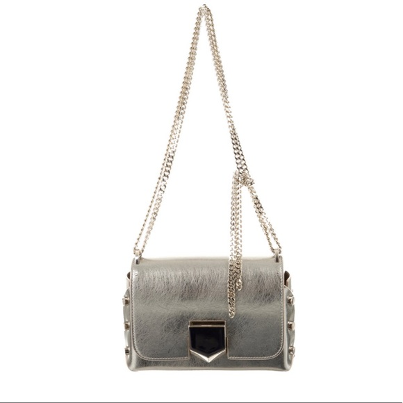 factory united states forefront of the times Jimmy Choo Locket Petite Vintage Silver Bag